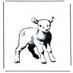 Раскраски с животными - Ягненок 2