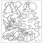 Рождественские раскраски - Гномы и елка