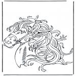 Раскраски с животными - Голова лошади