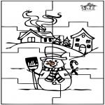 Рукоделие - Головоломки снеговик