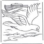 Раскраски по Библии - Голубь с Ноева Ковчега