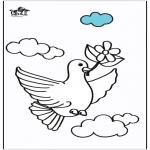 Раскраски с животными - Голубиные 2