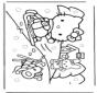 Hello Kitty на снегу