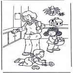 Детские раскраски - Играем с игрушками