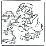 Детские раскраски - Игрушечная ферма