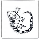 Раскраски с животными - Игуана