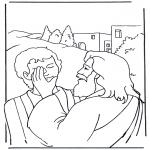 Раскраски по Библии - Иисус исцеляет : Ефаффа