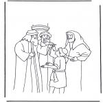 Раскраски по Библии - Иисус в 12 лет