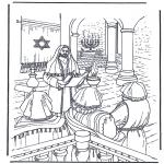 Раскраски по Библии - Иисус во храме