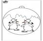 Ёлочный шар - Снеговик