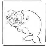 Раскраски по Библии - Иона и кит