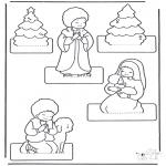 Рождественские раскраски - Как сделать Рождественский хлев 2