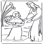 Раскраски по Библии - Картинка с Моисеем