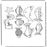 Раскраски с животными - Картинки с рыбами