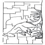Раскраски с животными - Кенгуру 1