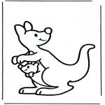 Раскраски с животными - Кенгуру 2