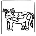 Раскраски с животными - Корова 1