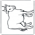 Раскраски с животными - Корова 2