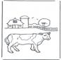 Корова около фермы