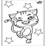 Раскраски с животными - Кошка 3