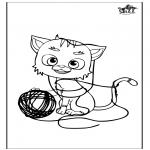 Раскраски с животными - Кошка 5