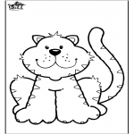 Раскраски с животными - Кошка 6