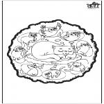 Мандалы - Кошки - мандалу
