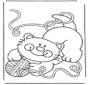 Котенок с клубком