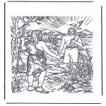 Раскраски по Библии - Крещение Иисуса