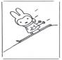 Кроличка на лыжах