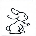 Раскраски с животными - Кролик 1