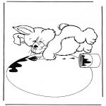 Темы - Кролик с пасхальным яйцом