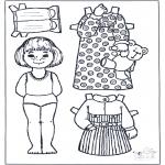 Рукоделие - Кукла для одевания 5