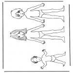 Рукоделие - Кукла для одевания дети