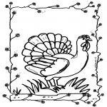 Раскраски с животными - Курица 2