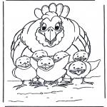 Разнообразные - Курица с цыплятами