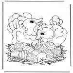 Темы - Куры с пасхальными яйцами