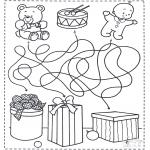 Рождественские раскраски - Лабиринт Рождество 4