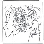 Раскраски по Библии - Лазарь