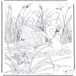 Раскраски с животными - Лебедь