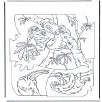 Раскраски с животными - Ленивец