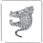 Раскраски с животными - Леопард 2