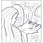 Раскраски по Библии - Лепта вдовицы