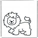 Раскраски с животными - Лев 1