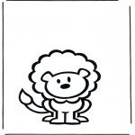 Раскраски с животными - Лев 2