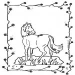 Раскраски с животными - Лошадь 2