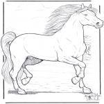 Раскраски с животными - Лошадь 3