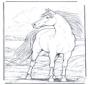Лошадь на ветру