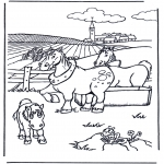 Раскраски с животными - Лошади