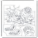 Раскраски с животными - Львы 1
